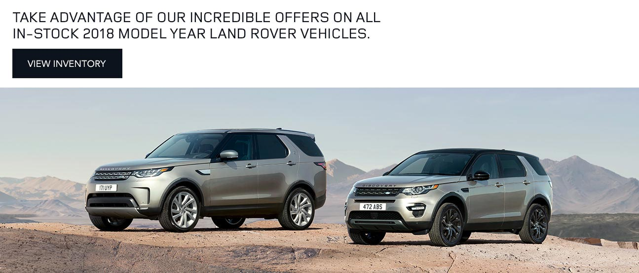 Land Rover 2018 Model Year Mobile Offer